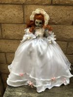 OOAK Large Skeleton Girl Creepy Horror Doll Art by Christie Creepydolls