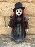 OOAK Mourning Hat Creepy Horror Doll Art by Christie Creepydolls