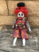 OOAK Sitting Red Hobo Mime Clown Creepy Horror Doll Art by Christie Creepydolls
