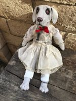 OOAK Sitting Dog Creepy Horror Doll Art by Christie Creepydolls