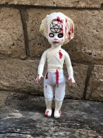 OOAK Living Dead Doll Satanic Nurse Repaint Creepy Horror Doll Art by Christie Creepydolls