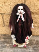 OOAK Vampire Two Tone Hair Creepy Horror Doll Art by Christie Creepydolls
