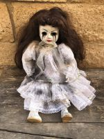 OOAK Sitting Mascara Tears Creepy Horror Doll Art by Christie Creepydolls