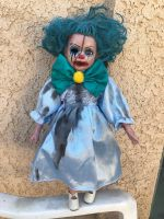 OOAK Flesh Crackle Stitches Clown Creepy Horror Doll Art by Christie Creepydolls