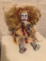 OOAK Sitting Vein Eyes Creepy Horror Doll Art by Christie Creepydolls
