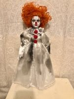 OOAK Pennywise IT Clown Lady Creepy Horror Doll Art by Christie Creepydolls