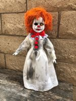 OOAK One Eyed Pennywise IT Clown Creepy Horror Doll Art by Christie Creepydolls