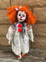 OOAK Large Child Pennywise IT Clown Girl Creepy Horror Doll Art by Christie Creepydolls