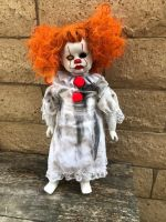 OOAK Large Cracked Face Child Pennywise IT Clown Girl Creepy Horror Doll Art by Christie Creepydolls