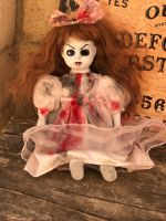 OOAK Small Sitting Bloody One Eye Creepy Horror Doll Art by Christie Creepydolls