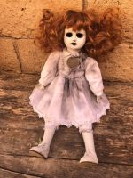 OOAK Sitting Hollow Eyes w Charm Creepy Horror Doll Art by Christie Creepydolls