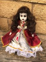 OOAK Sitting Red Eye Bloody Creepy Horror Doll Art by Christie Creepydolls