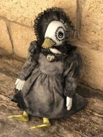 OOAK Sitting Duck Creepy Horror Doll Art by Christie Creepydolls