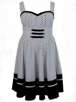 Plus Size White & Black Polka Dot Flirty Rockabilly Dress