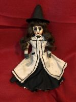 OOAK Small Sitting Mary Poppins Witch Creepy Horror Doll Art by Christie Creepydolls