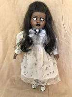 OOAK Possessed Skull Ghost Girl Creepy Horror Doll Art by Christie Creepydolls