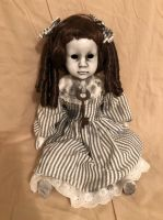 OOAK Sitting Hollow Eyes Old Key Creepy Horror Doll Art by Christie Creepydolls
