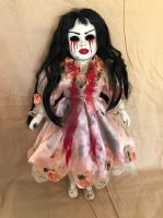 OOAK Tears of Blood w Red Lips Creepy Horror Doll Art by Christie Creepydolls