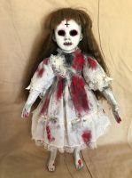 OOAK Bloody Zombie Girl Gothic Creepy Horror Doll Art by Christie Creepydolls