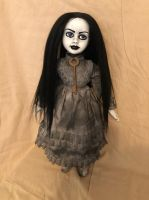 OOAK Pretty Black Hair w Key Creepy Horror Doll Art by Christie Creepydolls