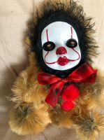 OOAK Pennywise IT Clown Teddy Bear #6 Creepy Horror Doll Art Christie Creepydolls