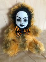 OOAK Beauty Face Teddy Bear Creepy Horror Doll Art Christie Creepydolls