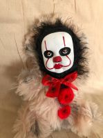 OOAK Pennywise IT Clown Teddy Bear #7 Creepy Horror Doll Art Christie Creepydolls