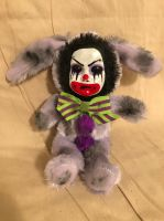 OOAK Small Cute Purple Clown Bunny Rabbit Creepy Horror Doll Art Christie Creepydolls