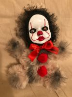 OOAK Pennywise IT Clown Teddy Bear #8 Creepy Horror Doll Art Christie Creepydolls