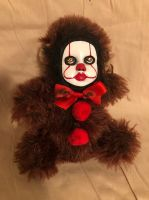 OOAK Pennywise IT Clown Teddy Bear #9 Creepy Horror Doll Art Christie Creepydolls