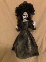 OOAK Spiderweb Mourning Black Widow Fancy Creepy Horror Doll Art by Christie Creepydolls