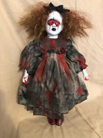 OOAK Mouth Eyes Vampire Creepy Horror Doll Art by Christie Creepydolls