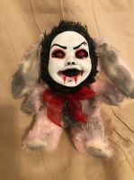 OOAK Smiling Sinister Bunny Rabbit Creepy Horror Doll Art Christie Creepydolls