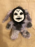 OOAK Smiling 666 Bunny Rabbit Creepy Horror Doll Art Christie Creepydolls