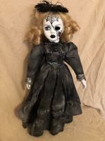 OOAK Spiderweb Mourning Black Widow Girl Creepy Horror Doll Art by Christie Creepydolls