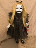 OOAK Malice in Wonderland w Bottle Creepy Horror Doll Art by Christie Creepydolls