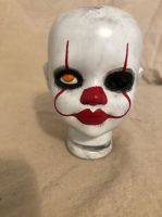 OOAK Pennywise Clown Doll Head Horror Doll Art by Christie Creepydolls