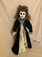 OOAK Skull Brooch Girl Creepy Horror Doll Art by Christie Creepydolls