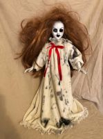 OOAK One Eye Nightgown Creepy Horror Doll Art by Christie Creepydolls