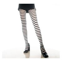 Opaque Fairy Black & White Gothic Striped Tights