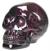 Large Purple Crystal Skull
