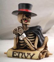 "Skeleton ""Envy"" 7 Deadly Sins Figurine"