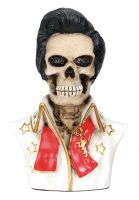 Skull Elvis Skeleton Figurine