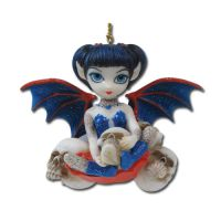 Jasmine Becket Griffith Spiders and Skulls Fairy Ornament