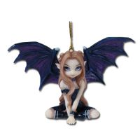 Jasmine Becket Griffith Fairy in Black Lace Fairy Ornament