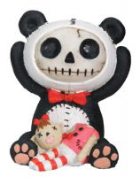 Pandi Panda Furry Bones Skellies Figurine