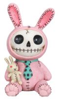 Pink Bun Bun Furry Bones Skellies Figurine