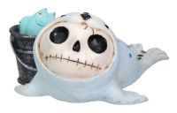 Rollie Seal Furry Bones Skellies Figurine