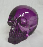 Spooky Purple Translucent Skull