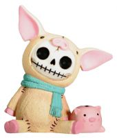 Bacon Pig Furry Bones Skellies Figurine